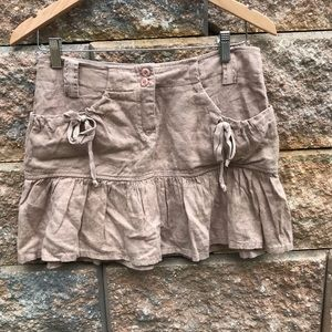 Bebe Linen Mini Skirt